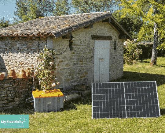 site isolé photovoltaique